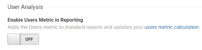 Enable Users in Reporting