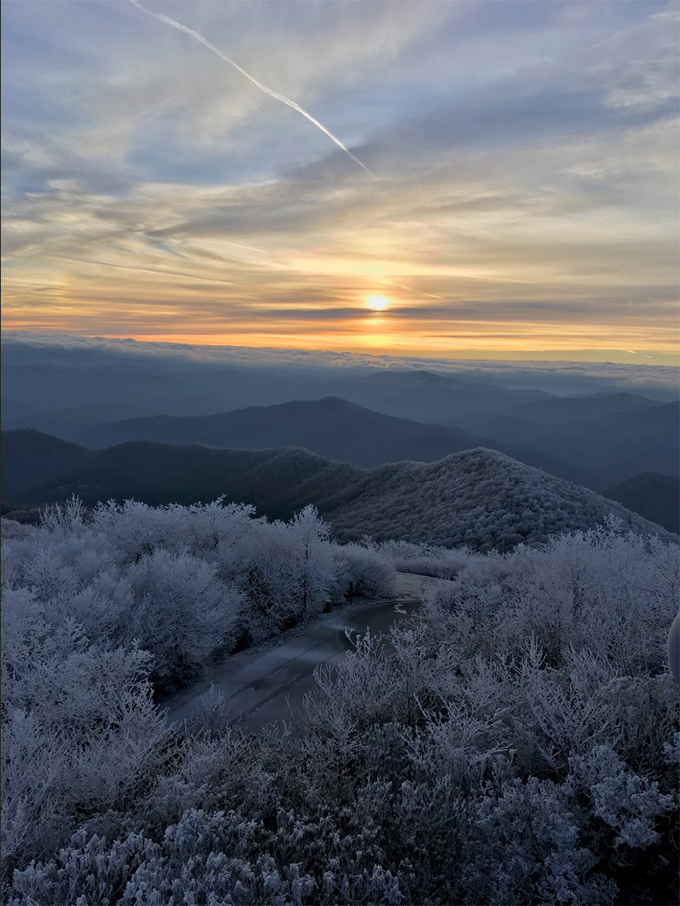 Sunrise from the Highest Point in Georgia