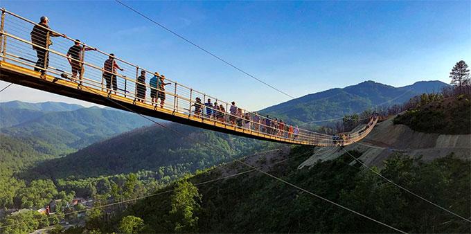 North America's Longest Pedestrian Suspension Bridge Is Open