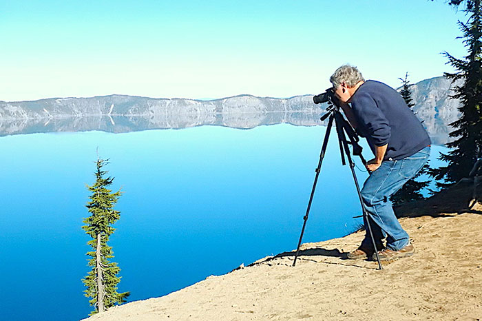 A Clear Day Autumn Day To Photograph Crater Lake
