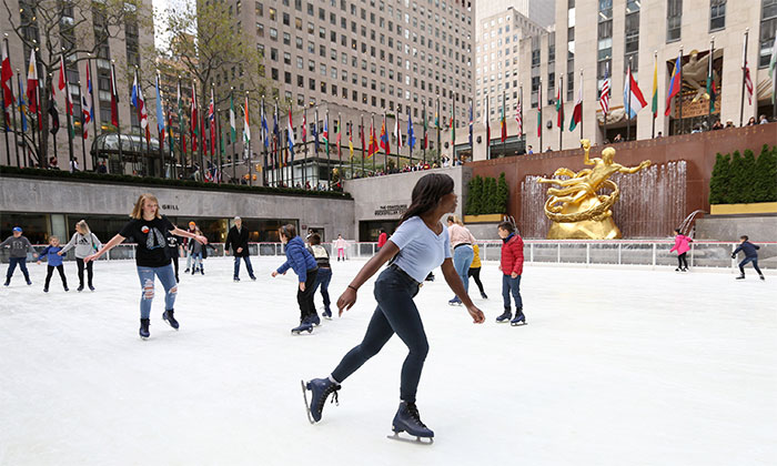 Skaters on The Rink at Rockefeller Center