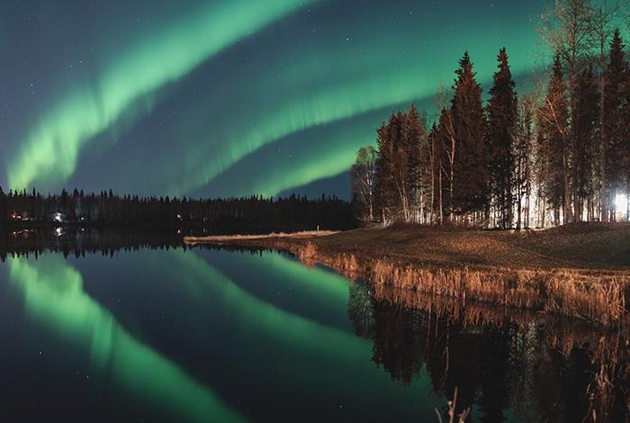 The Northern Lights Over Lake Chena