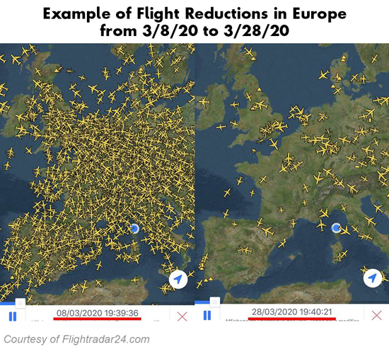 Flight Reductions in Europe