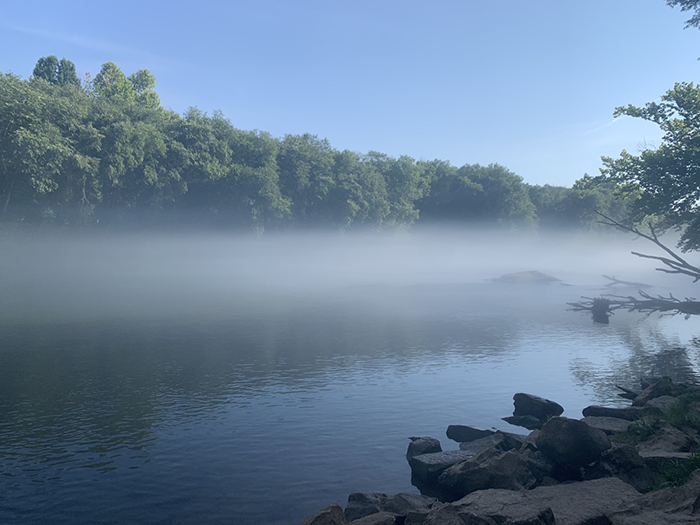 A Morning on the Riverside