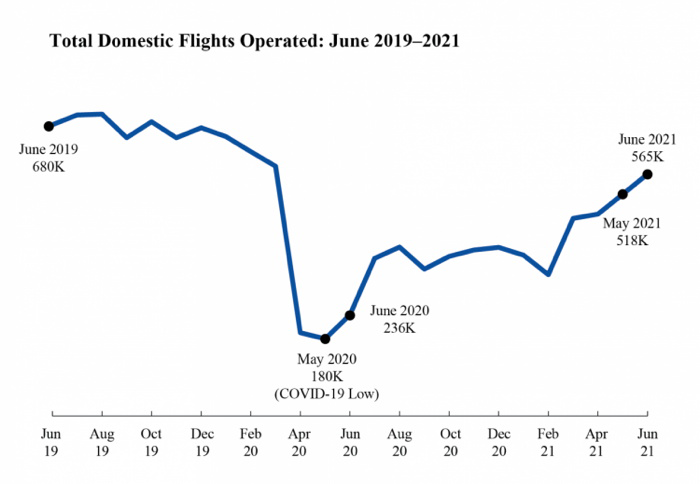 Total Domestic Flights Operated