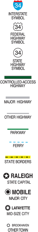Mapping Maps What Do The Symbols Really Mean - Us-highway-map-symbols